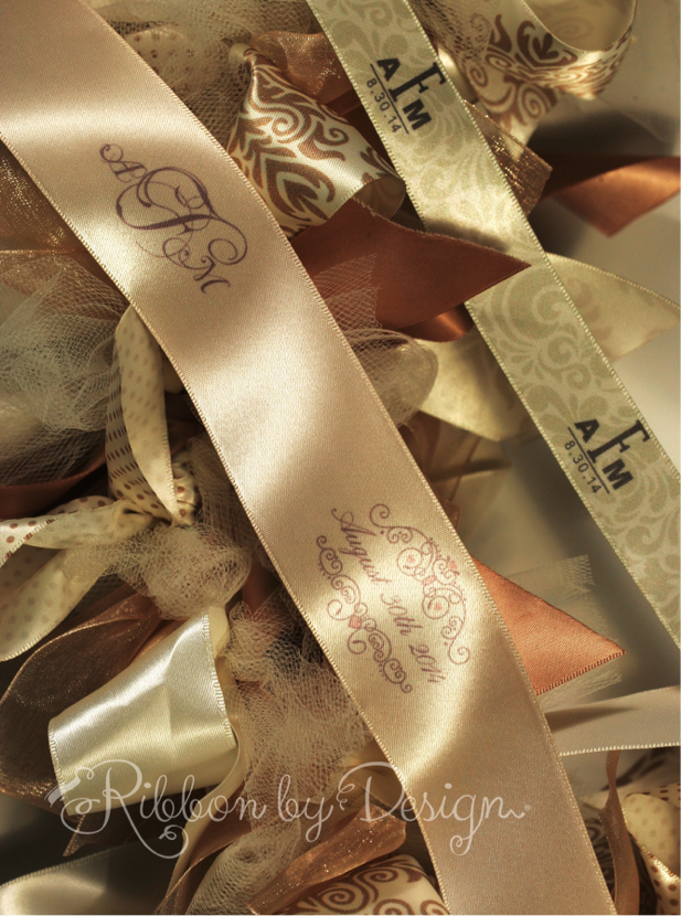 Wedding ribbon for the newly married Finnocchis